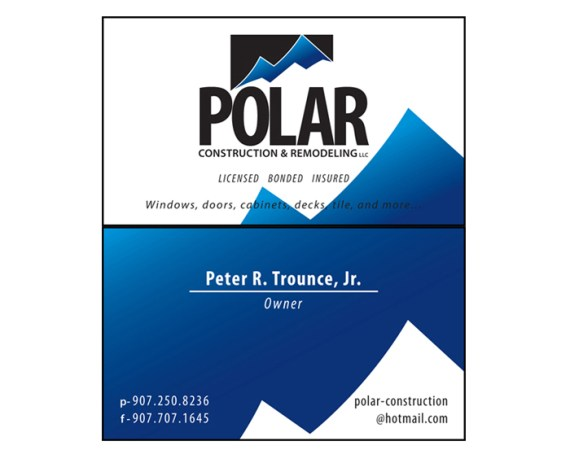 Polar Construction Business Cards