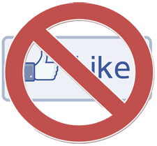 Facebook No Like Button