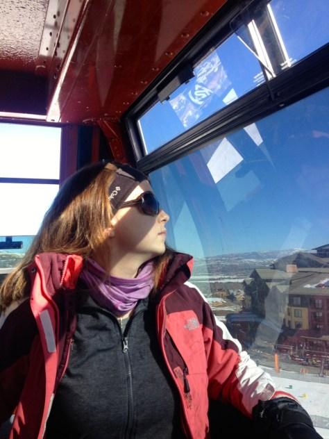 Nicole contemplates the mountain.