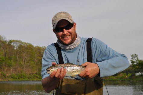 First fish on the dry fly and Fly Rod ever!
