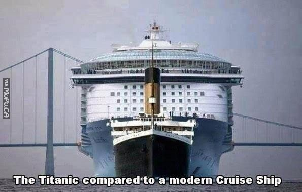 The Titanic Compared to a Modern Ship