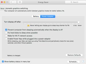 Energy System Settings