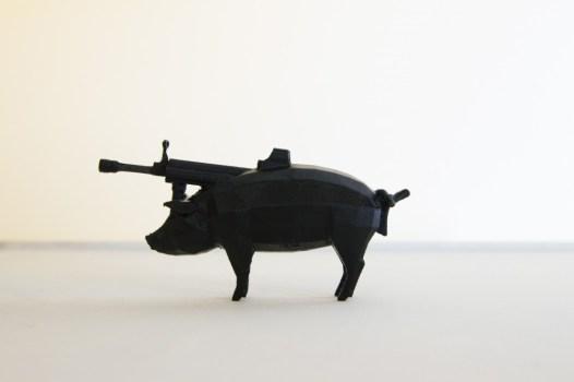 Morehshin Allahyari - Dark Matter Series I - #pig #gun