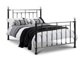 Marquis black nickel and crystal bed