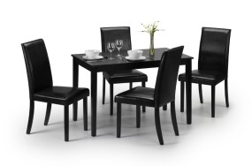 Hudson black dining set - More Than Beds, Bangor