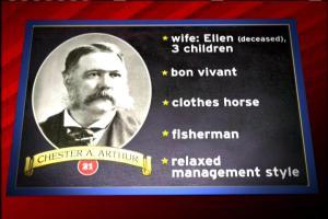 Chester A Arthur presidential checklist