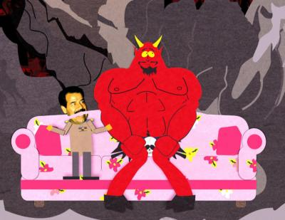 Saddam Hussein and Satan on South Park
