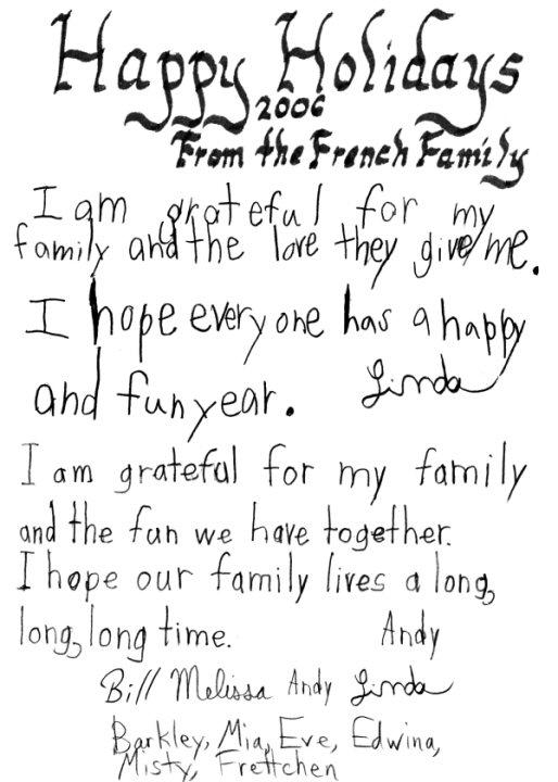 Holiday card 2006