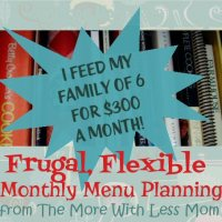 Frugal, Flexible Monthly Menu Planning & Price List Download - October 2013 Meal Plan