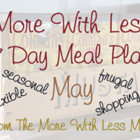 More With Less Weekly Meal Plan - May 2015 - with printable shopping list