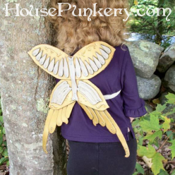 Armor steampunk fairy wings we made, photo property of Melissa French