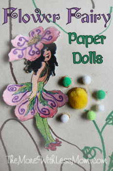 Flower Fairies for Your Fairy House - Printable Dolls for Fairy Day from The More With Less Mo