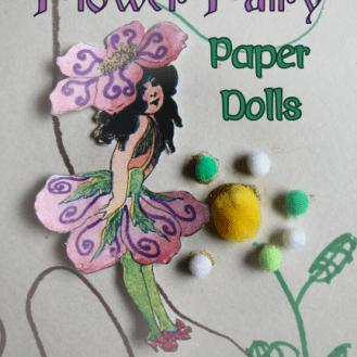 Flower Fairy Paper Dolls