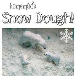 Sensory Snow Dough