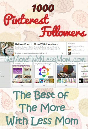 1,000 Pinterest Followers Celebration Best of The More With Less Mom