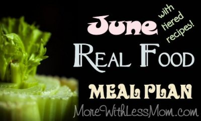 June Real Food Monthly Meal Plan from The More With Less Mom