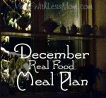 December Real Food Meal Plan