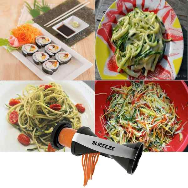 clever and affordable kitchen gadgets for food lovers-strawberry huller, avocado peeler, banana slicer, pineapple corer, spiralizer, kitchen scrap trap,