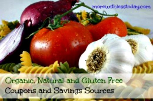 master list of natural food and organic food coupons, companies that give out coupons for organic foods, printable organic and natural food coupons