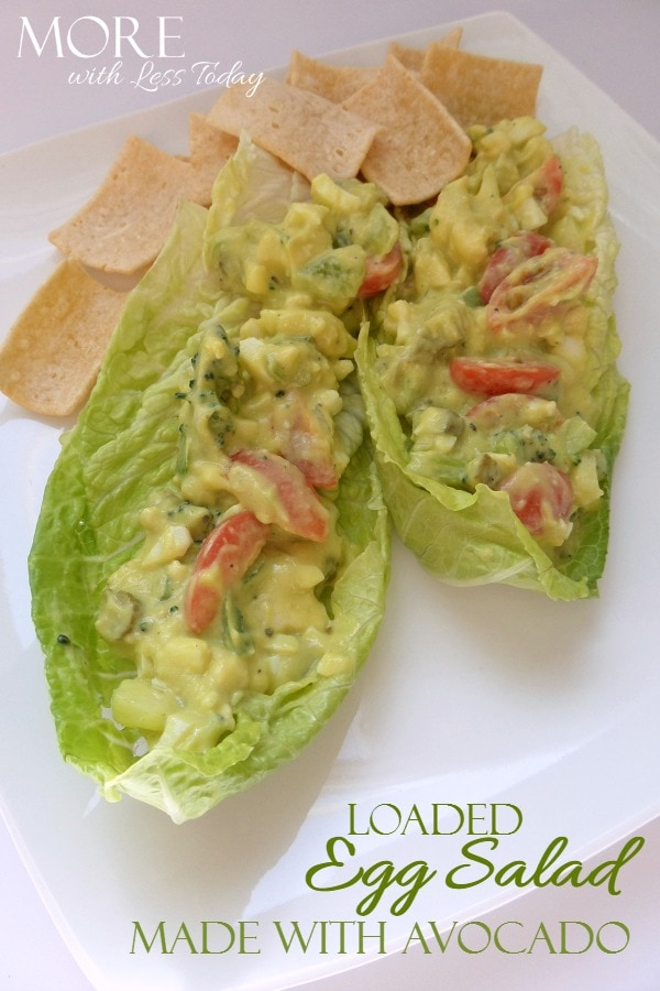 Egg Salad Made with Avocado - More with Less Today - Egg Salad Recipes with Avocado - Egg Salad with Avocado Instead of Mayo - Healthy Egg Salad Recipes