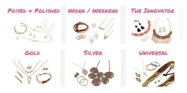 Cate & Chloe choices for jewelry subscription boxes