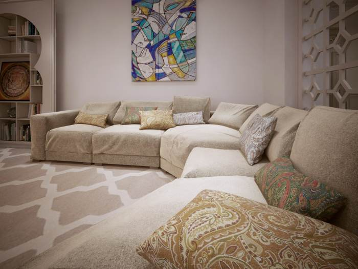 tips for doing home improvement projects on a budget, using a prepaid debit card to budget, making a DIY sectional sofa from old cabinets, Walmart MoneyCard