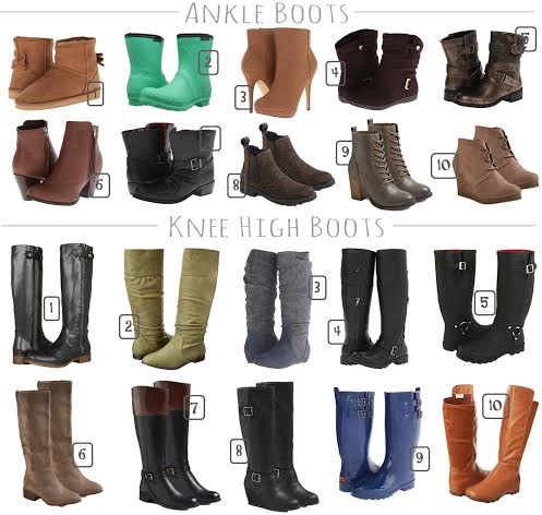 stylish fall boots under $60, ankle boots on sale, tall boots for leggings, high/low boots, inexpensive fashionable boots, boots for less, rain boots,