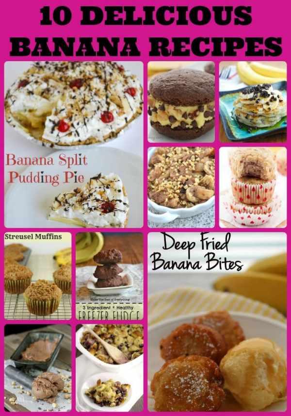 favorite banana recipes, top food bloggers favorite banana dessert recipes, recipes using bananas, use over ripe bananas, National Banana Day, banana recipe