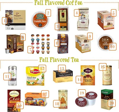 fall flavored coffee and tea make at home, fall flavored coffee for under $1 a serving, make your own pumpkin flavored drinks, coffee shop drinks at home