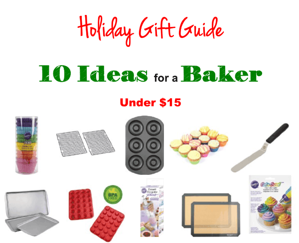 Top 10 Inexpensive Gift Ideas for Those Who Love to Bake, gift ideas under $15 for a baker, gifts for cooks, gift suggestions for bakers, kitchen gifts