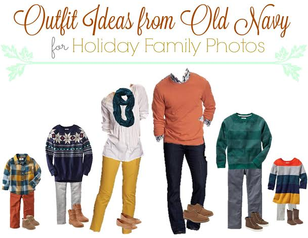 Family Outfits from Old Navy for Your Holiday Photos, matching family clothes for Christmas card pictures, Old Navy More With Less Today