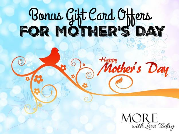 Bonus Gift Card Offers for Mother's Day