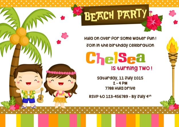 party themes for kids- have a luau or beach themed party