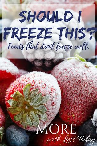 Do you know which foods that do not freeze well and which are freezer friendly? We have a reference list to make it easy to know.