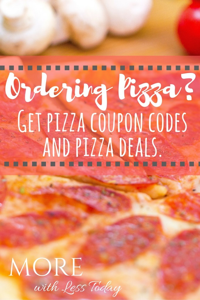 Ordering pizza? We have the online coupon codes and pizza deals plus pizza chains with promotions today