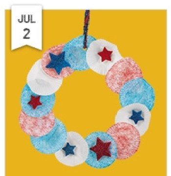 star spangled wreath