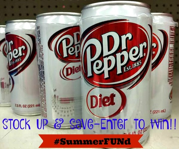 Love Diet Dr Pepper? Win with #SummerFUNd Diet Dr Pepper® and Walmart
