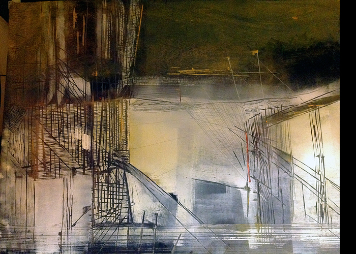'Chinese Landscape', oil on wood, 107 x 137 cm ( 3.5 x 4.5 ft), £2,500