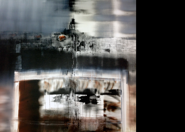 'Shoreline', monoprint, 80 x 80 cm, £1,200