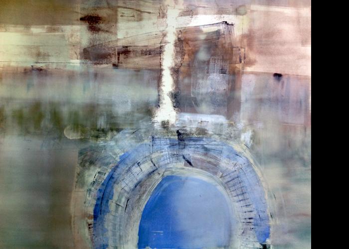 'Sky Wheel', monoprint, 80 x 80 cm, £1,200