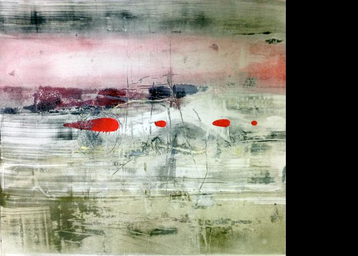 'Distinct Red', monoprint, 60 x 60 cm, £950