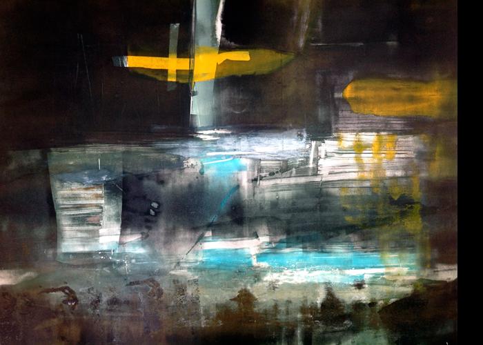 'Yellow Cross', monoprint, 80 x 90 cm, £1,400