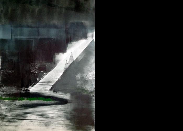 'Reflected White Light', monoprint, 70 x 60 cm, £1,100