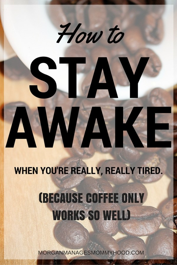 Some days, you are really, really tired but you can't just go back to bed or even take a cat nap. Here is how to stay awake when you're exhausted!