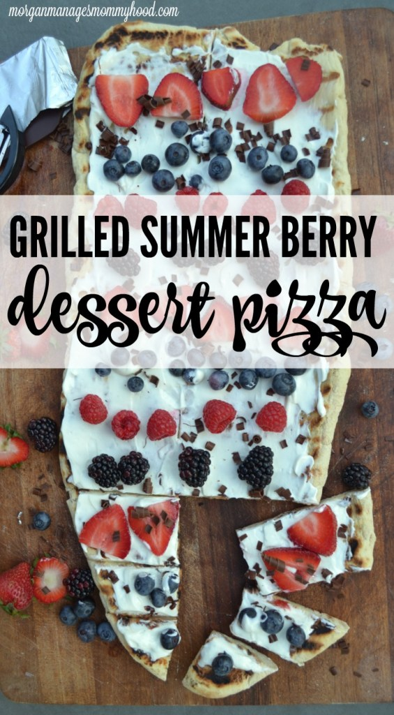 Looking for a healthier dessert to share with your family this summer? This grilled berry dessert pizza is high on flavor and low on junk, plus it uses your grill rather than your oven!