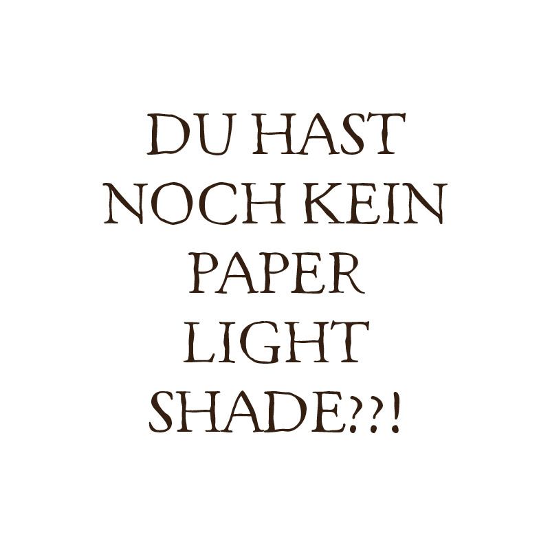 Du hast noch kein Paper Light Shade?