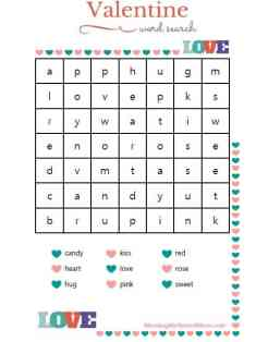 Valentine's Day Word Search & Bible Verse Printables. Free Printables!