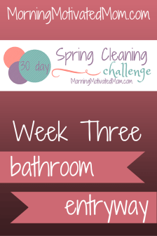 30 Day Spring Cleaning Challenge Week Three