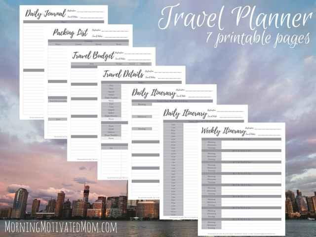 Travel Planner Printables