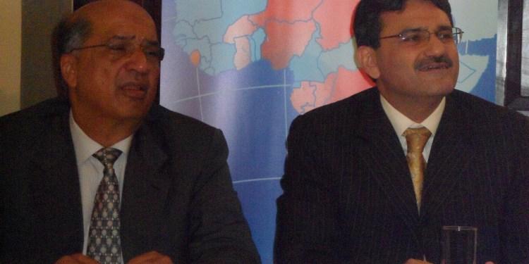 Naushad Merali and Manoj Kohli of Airtel Kenya